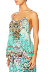 THE SPIRIT WITHIN T-BACK SHOESTRING STRAP TOP