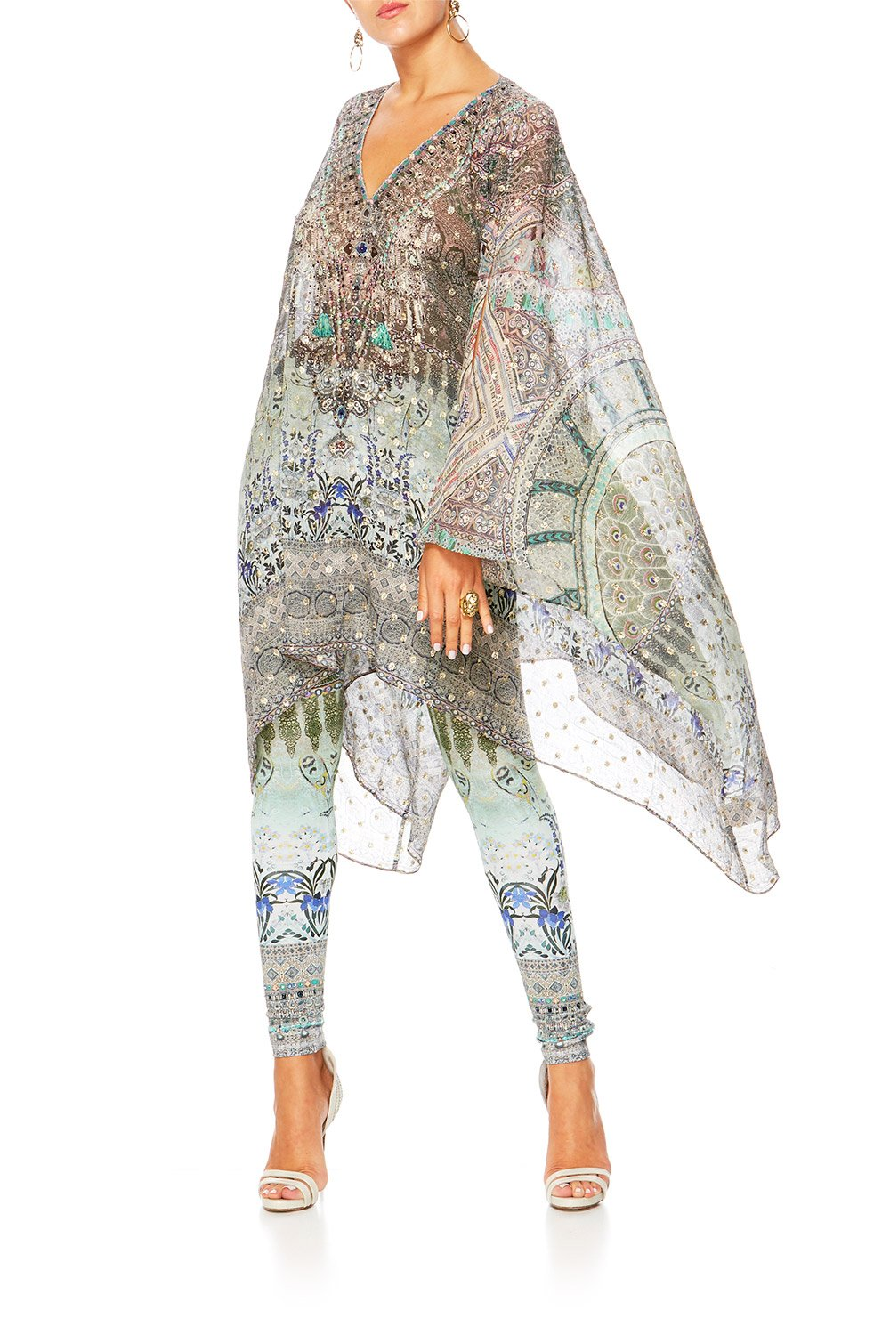 MAMAS HOME SPLIT SHOULDER SHORT KAFTAN