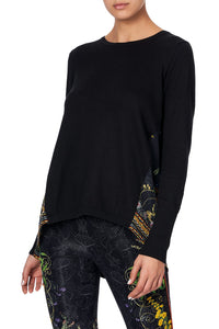 SILK GODET KNIT JUMPER BLACKHEATH BETTY