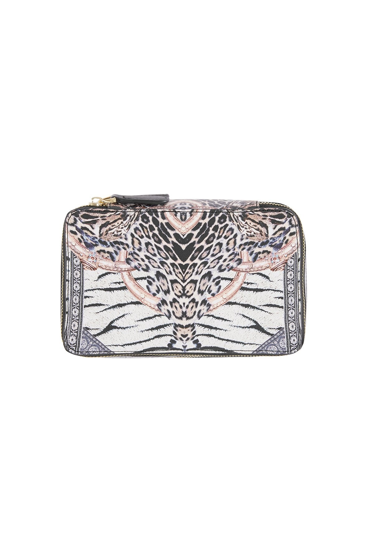 THE BODYGUARD SAFFIANO PRINTED COSMETIC CASE