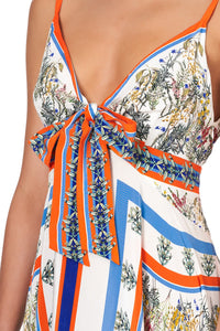 TIE DETAIL HIGH LOW DRESS GONE COAST