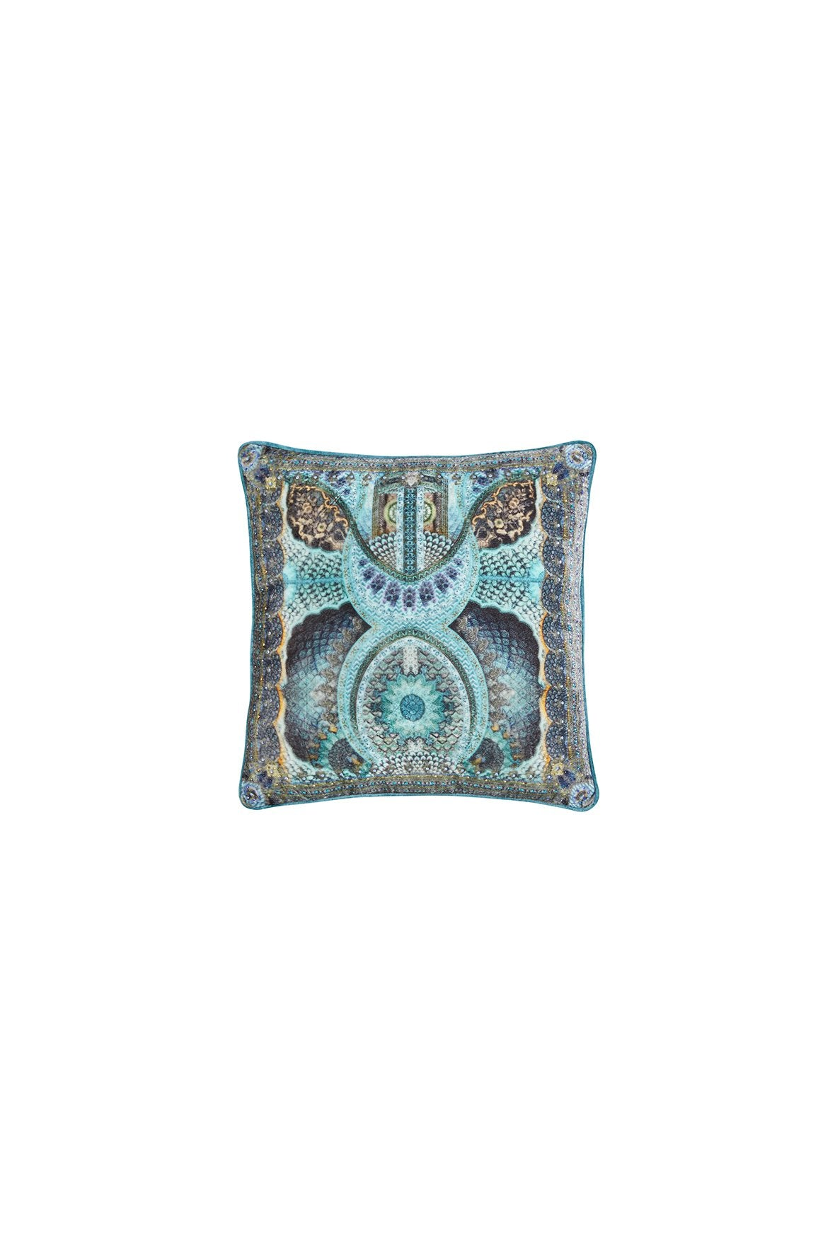 TURN ON THE CHARM SMALL SQUARE CUSHION
