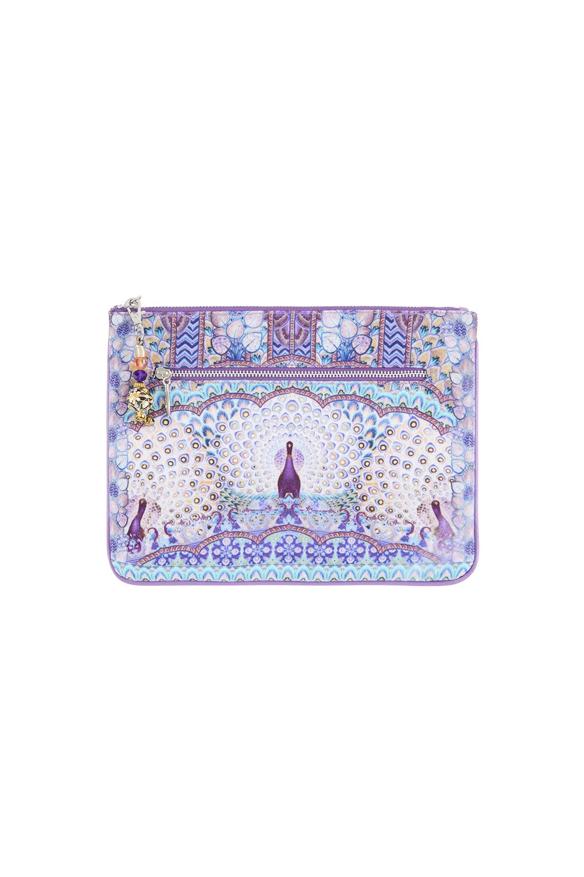 CAMILLA WINGS TO FLY SMALL CANVAS CLUTCH