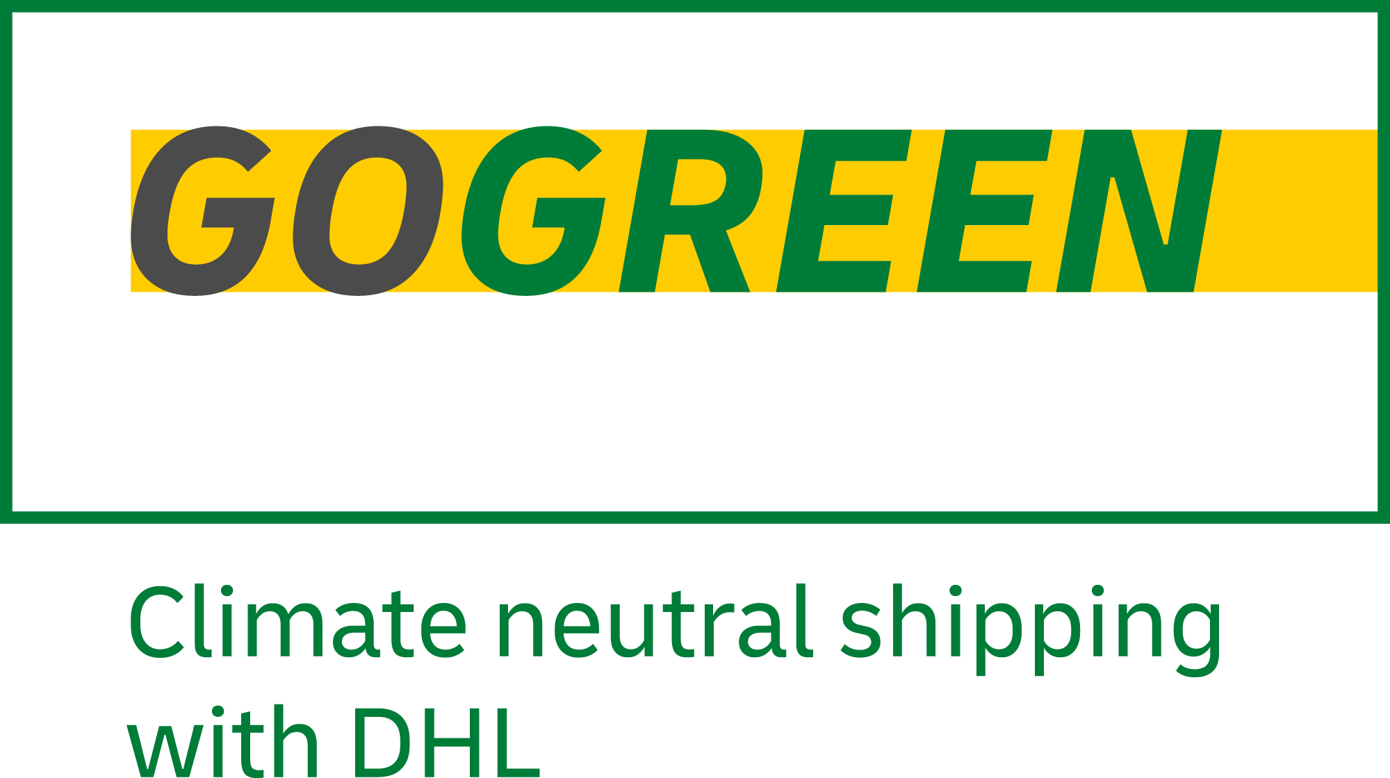 DHL Go Green Climate Neutral Shipping