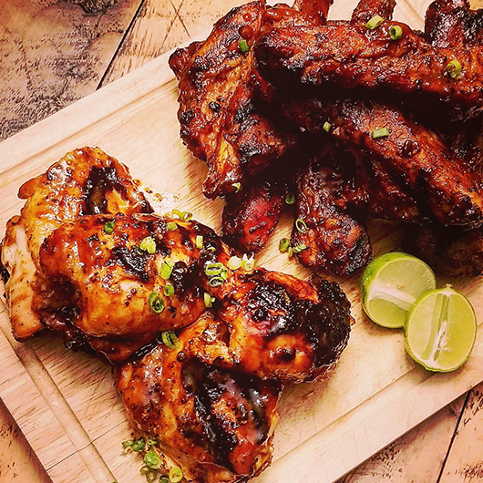 Pork Ribs with Spice Rub and Bigfoot BBQ sauce - Image