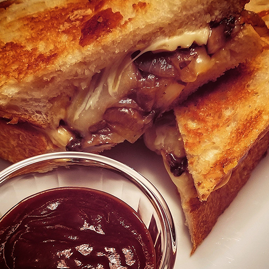 Sourdough Mushroom Melt Sandwich with Blueberry sauce and Killa Ketchup - Image
