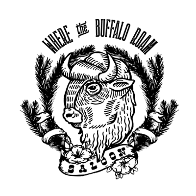 Where The Buffalo Roam Saloon Brand Logo - Image