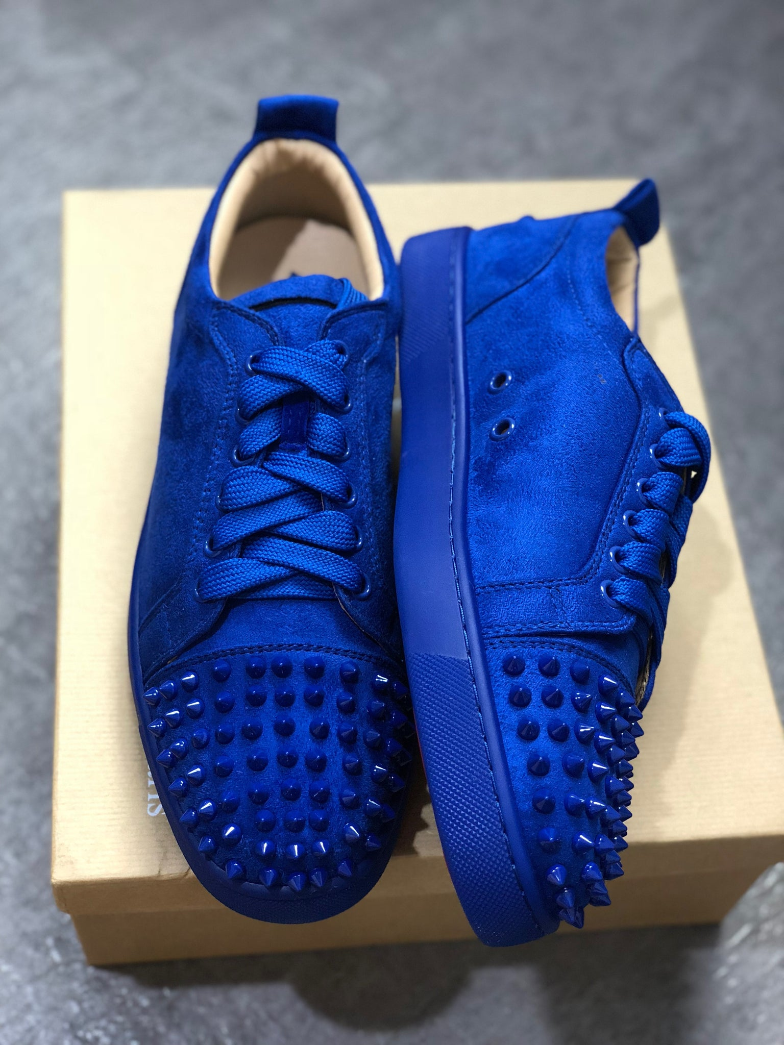 5de080e575f Blue Suede Low Top Louboutin Sneakers – Antigua fashion