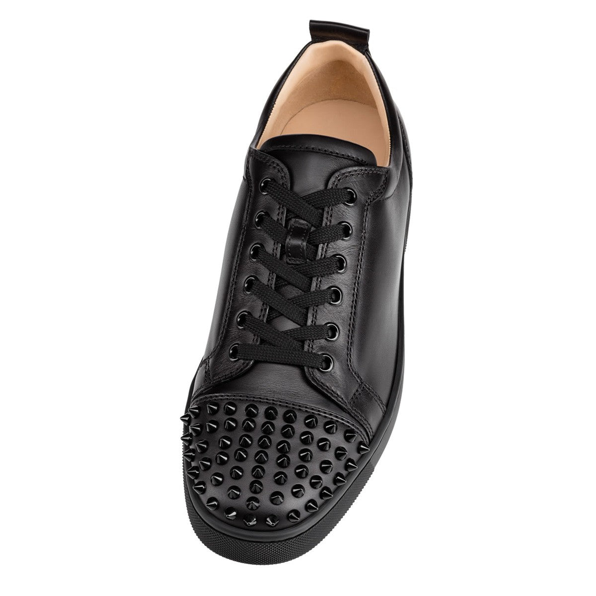 8e08647b9f4 Black Leather Low Top Louboutin Sneakers – Antigua fashion