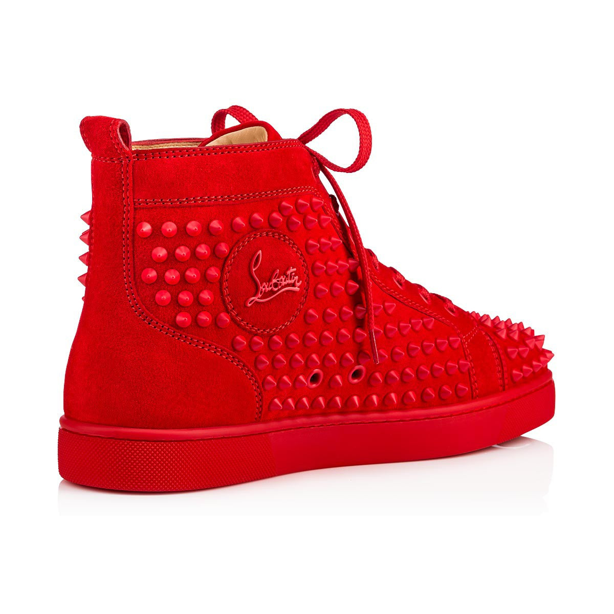 b2603120e65 Red Suede High Top Louboutin Sneakers – Antigua fashion
