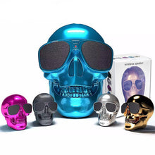 Load image into Gallery viewer, Wireless Skull Bluetooth Speaker