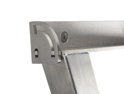 Evolution 316 Stainless Steel Clothesline - Close Up Mechanical Hinge - Clothesline Installation Australia