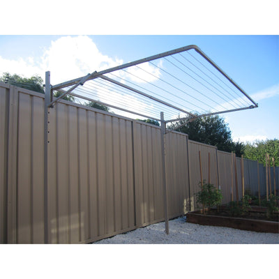 Austral Addaline 35 Clothesline - Installed with Mount Post - Side View