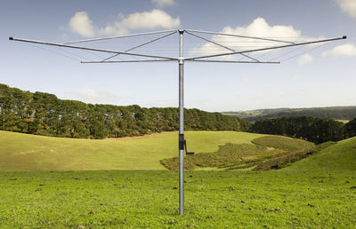 Austral Deluxe 5 Rotary Clothes Hoist - Galvanized Rotary Installed - Clotheslines Installation Australia