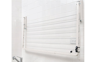 Austral Indoor Outdoor Clothesline - Wall Mounted Folded Down - Clotheslines Installation Australia