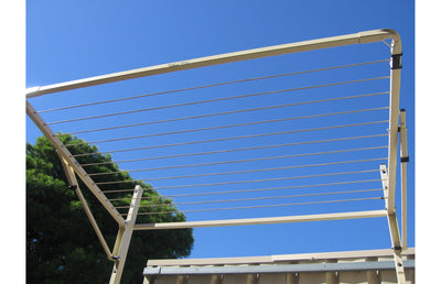 Austral Unit Line 15 Clothesline - Classic Cream Installed - Clothesline Installation Australia