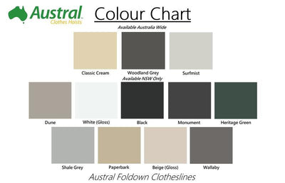 Austral Ground Mount Kit - Colour Scheme - Clotheslines Installation Australia