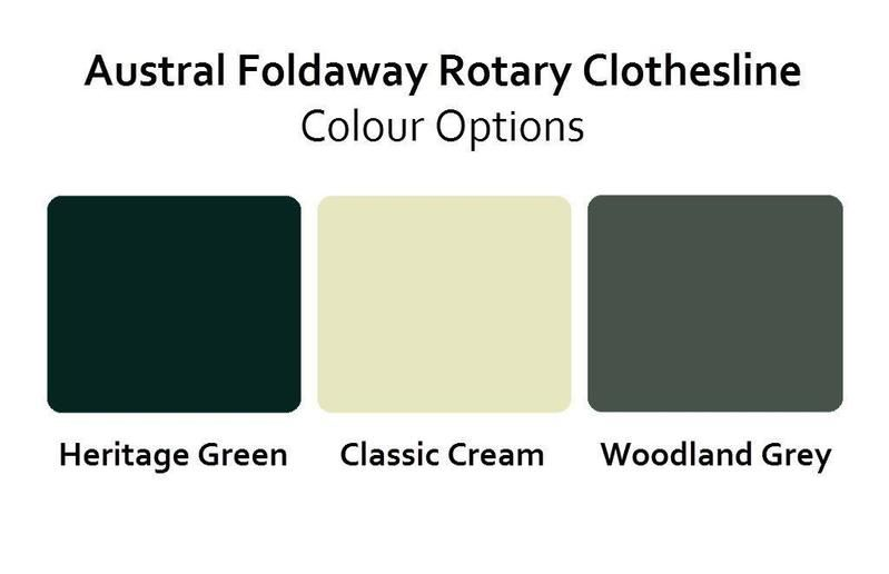Austral Foldaway 51 Rotary Clothesline - Classic Cream - Clotheslines Installation Australia