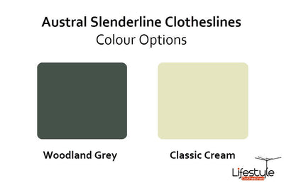 Austral Slenderline 20 Ground Mount Kit -  Colour Options - Clotheslines Installation Australia
