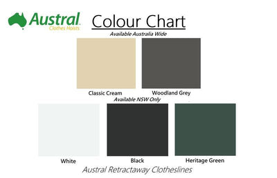 Austral Retractaway 40 Clothesline - Colour Scheme - Clotheslines Installation Australia