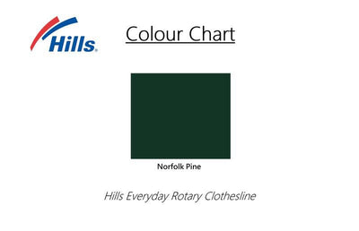 Hills Everyday Rotary 47 Clothesline - Colour Scheme - Clothesline Installation Australia