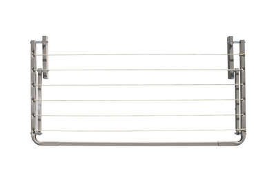 Eco 120 Clothesline - Surfmist Front Side Folded Down - Clothesline Installation Australia