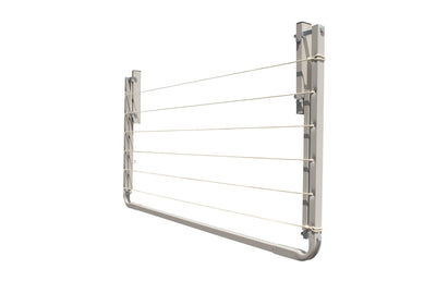 Eco 120 Clothesline - Surfmist Right Side Folded Down - Clothesline Installation Australia