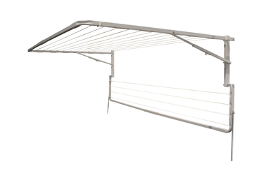 Eco 240 Clothesline - Right Side View With Eco Lowline Attachment Folded Down - Clothesline Installation Australia