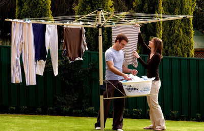 Austral Foldaway 45 Rotary Clothesline - Suitable for 3- 4 People - Clotheslines Installation Australia