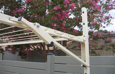 Austral Unit Line 15 Ground Mount Kit - Close Up Right Perspective - Clothesline Installation Australia