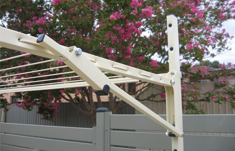 Austral Unit Line 15 Ground Mount Kit - Classic Cream - Clothesline Installation Australia
