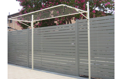 Austral Slenderline 20 Ground Mount Kit - Installed - Clotheslines Installation Australia