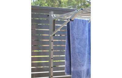 Austral Unit Line 15 Ground Mount Kit - Close Up Left Perspective - Clothesline Installation Australia