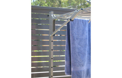 Austral Slenderline 20 Ground Mount Kit - Left Side Perspective - Clotheslines Installation Australia