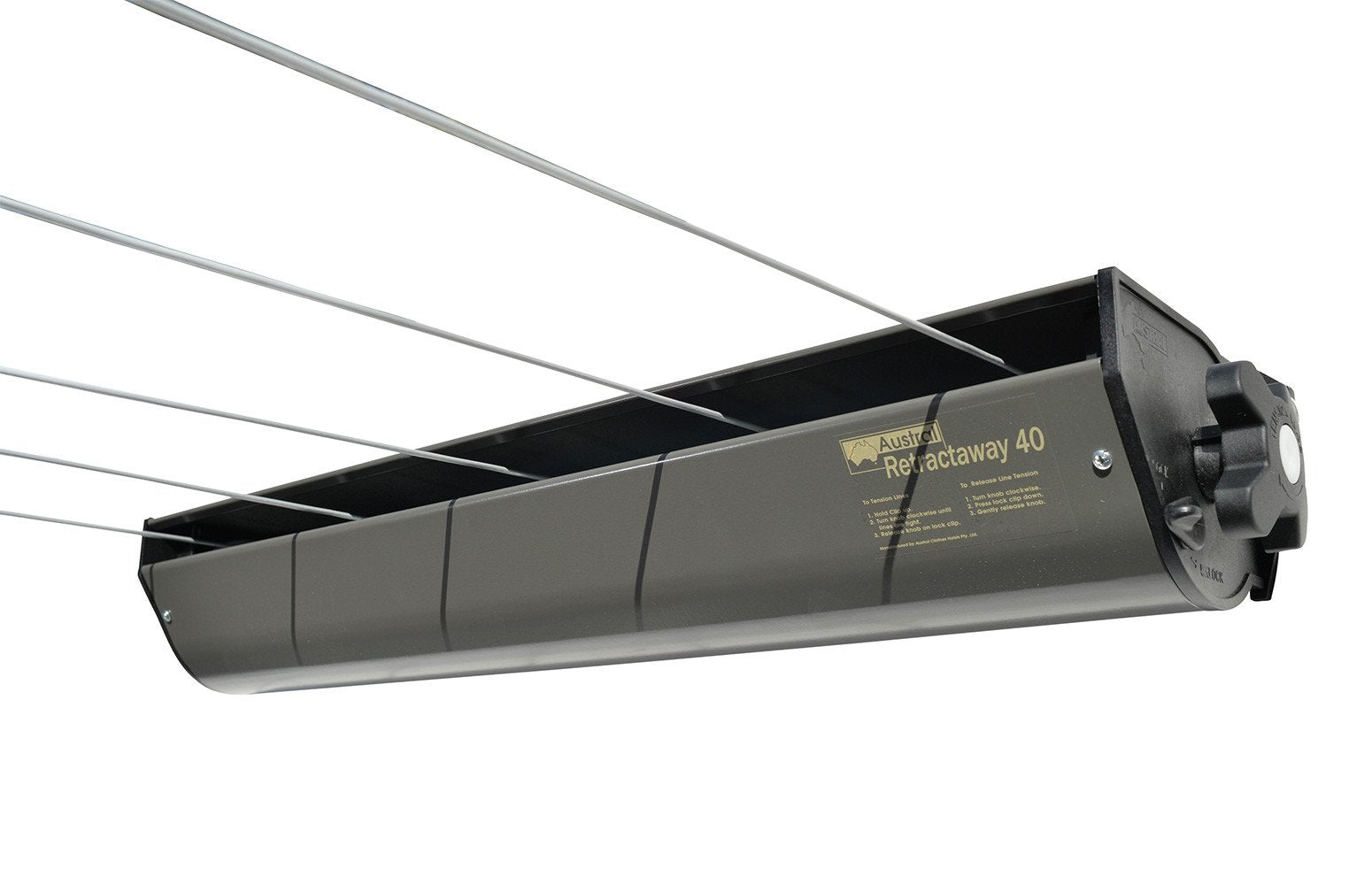 Austral Retractaway 40 Clothesline - Woodland Grey - Clotheslines Installation Australia