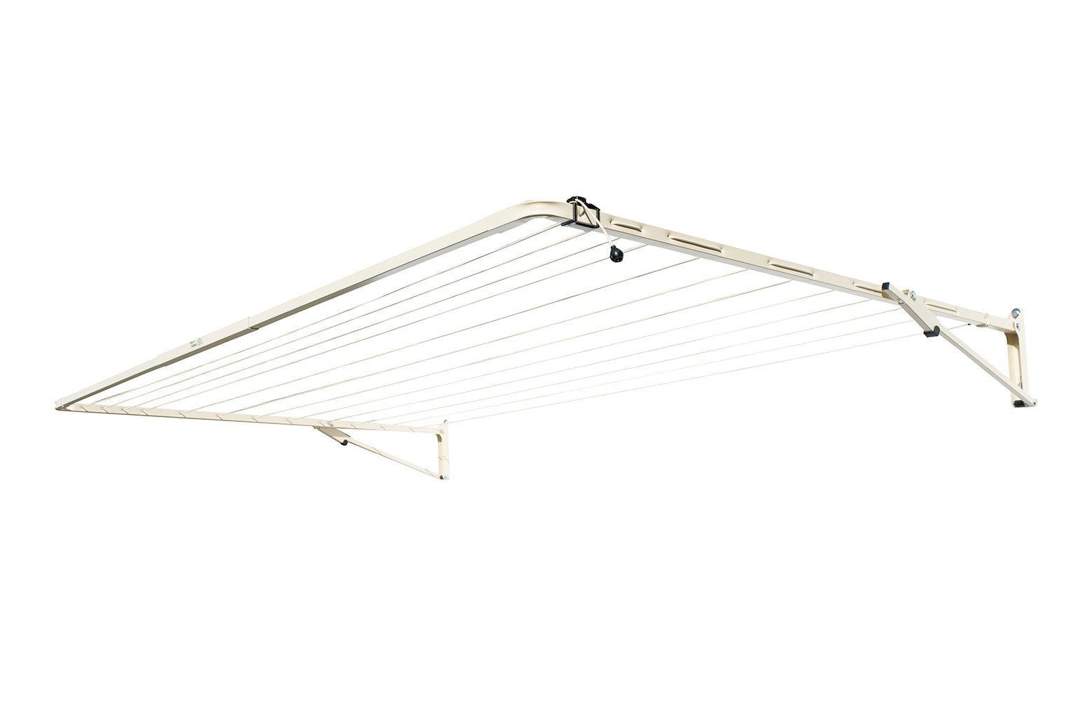 Austral Standard 28 Clothesline - Classic Cream Right Side Perspective - Clotheslines Installation Australia