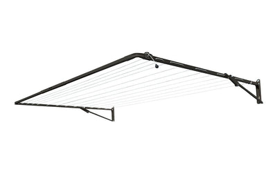 Austral Standard 28 Clothesline - Woodland Grey Right Side Perspective - Clotheslines Installation Australia