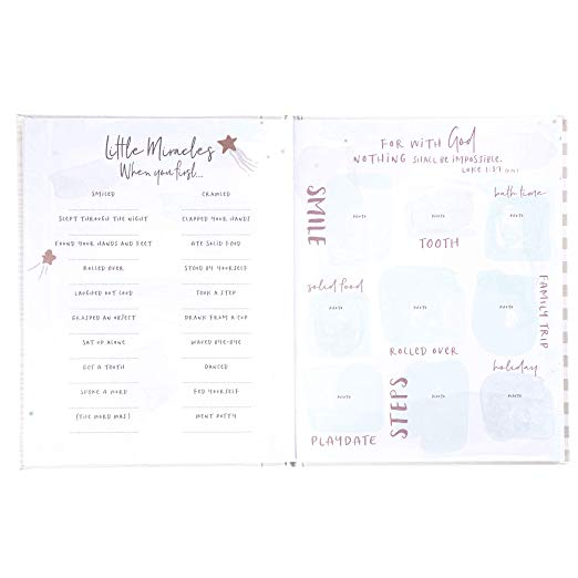 64 pgs C.R 8 3//4 x 11 1//4 Gibson Little Blessing Baby Memory Book for Newborns