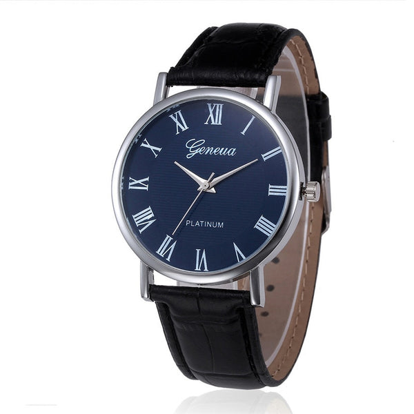 Luxury Analog Quartz Leather Wrist Watch Casual Male