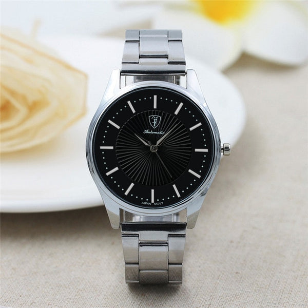 Brand Fashion Watch Men Stainless Steel Sport Quartz Hour Wrist Analog