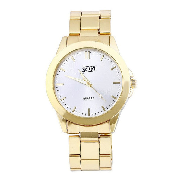 Gold Classic Analog Quartz Stainless Steel Wrist