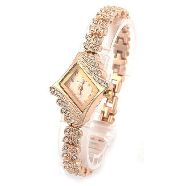 Bracelet Watch Crystal Quartz Rhombus