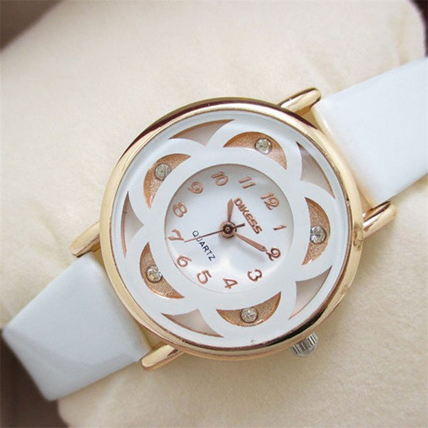 Leisure Models Diamond Bracelet Leather Quartz Watch
