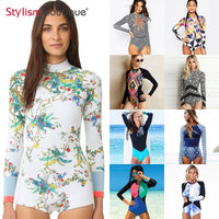 Rashguard Printed Long Sleeve Swimsuit