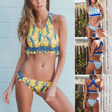 Ruffle swimwear Halter push up