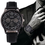 New Original Luxury Design Leather Quartz Watch Men