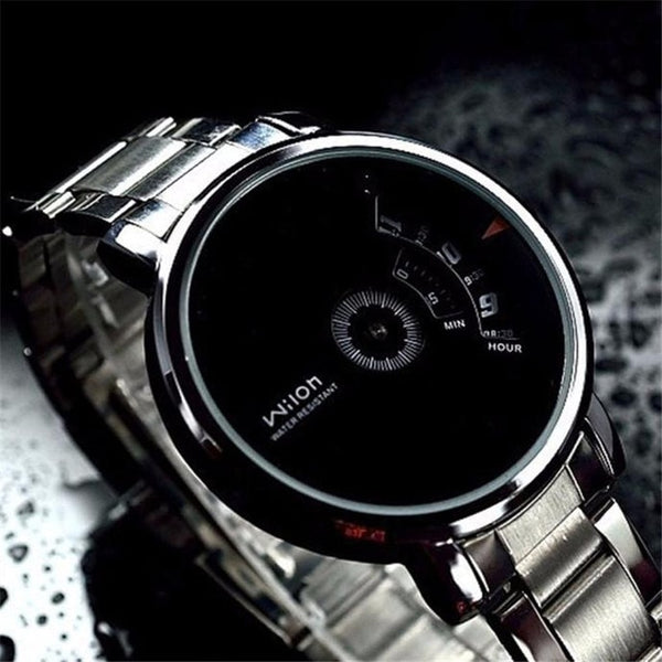 2018 Fashion Creative Stainless Steel Men's Military Sport Analog Quartz Wrist