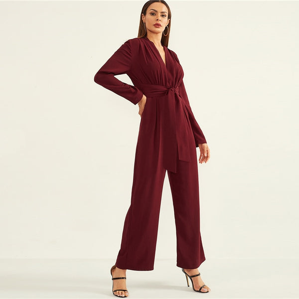 Wide Leg Solid Jumpsuit