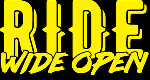 Ride Wide Open - Sticker