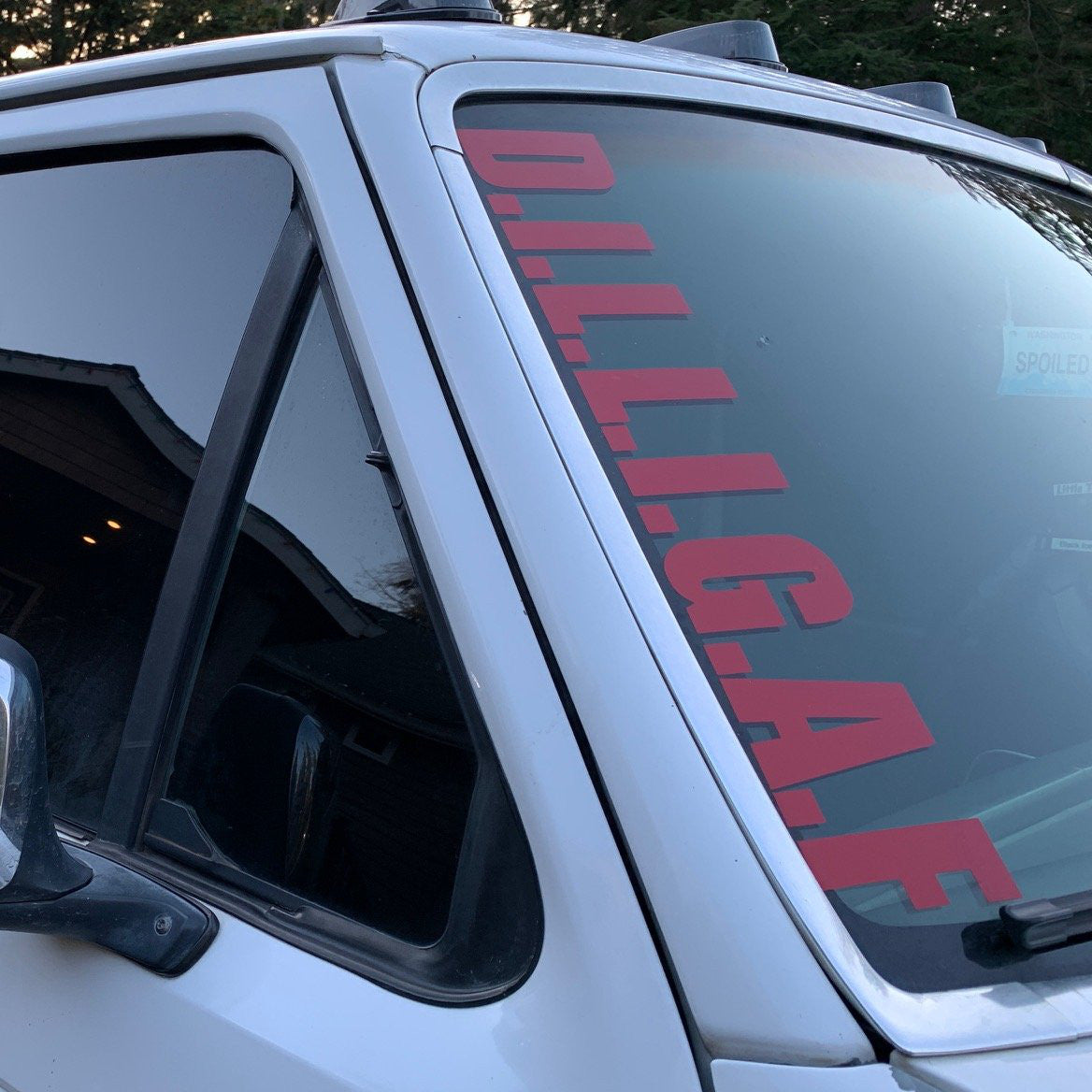 D.I.L.L.I.G.A.F. Windshield Decal